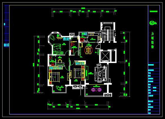 建筑图纸   东华家园平面布置图-cad施工图例-力创建筑装