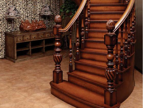 实木楼梯扶手与楼梯形式